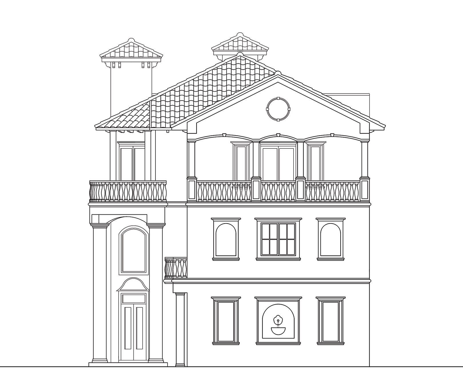 Front Elevation In 2d : D elevation and floor plan best free home design
